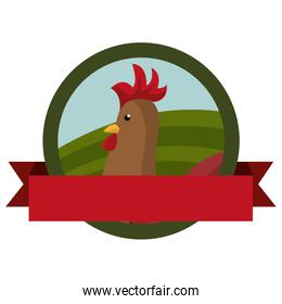 animal farm emblem with ribbon
