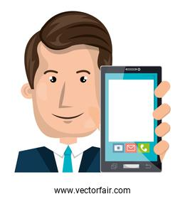 business person with smartphone