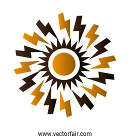 sun silhouette isolated icon