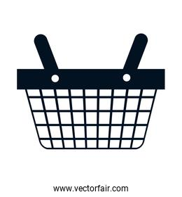 shopping basket commercial icon