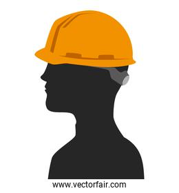 builder profile isolated icon