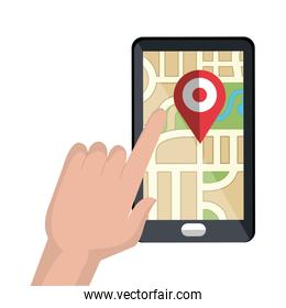 smartphone with gps service
