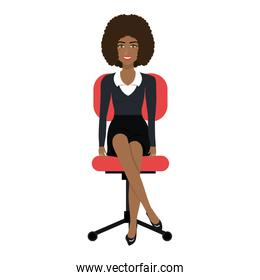 business person sitting on office chair