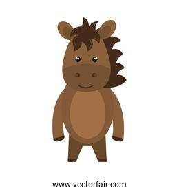 cute little horse animal character