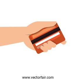 hand human with credit card
