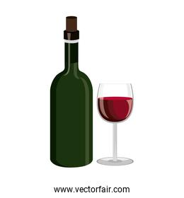 wine drink beverage isolated icon