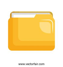 folder document file isolated icon