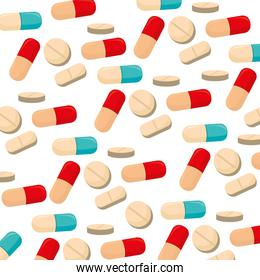 capsules and pills medical care icon