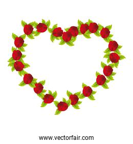 rose heart isolated icon