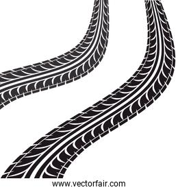 tire tracks isolated icon