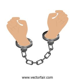 handcuffs police isolated icon