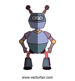 robot character isolated icon