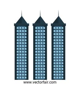 big building isolated icon