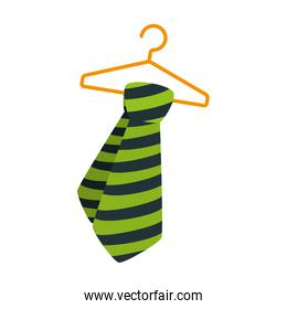 tie male fashion hanging in hook isolated icon