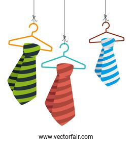 tie male fashion hanging in hook isolated design