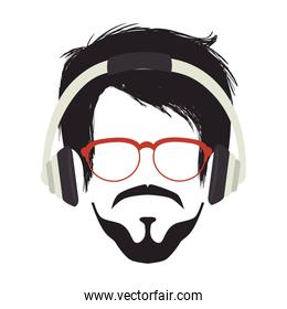 gentleman face hipster style