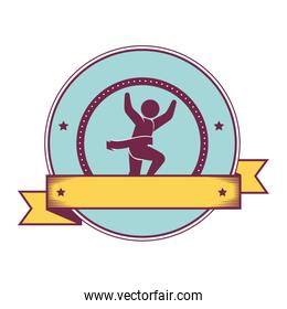 Athletic competitor emblem icon