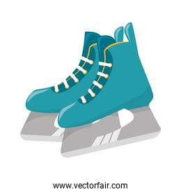 ice skaters isolated icon
