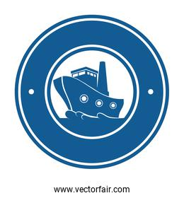 cruice boat travel isolated icon