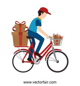 delivery worker service icon isolated