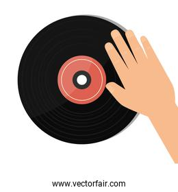 vinyl retro music icon