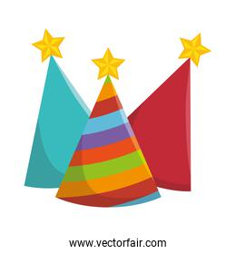 party hats isolated icon