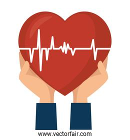 heart care isolated icon