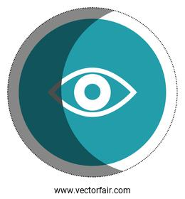 eye view isolated icon