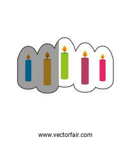 candles celebration isolated icon