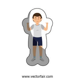 man athlete practicing exercise avatar character