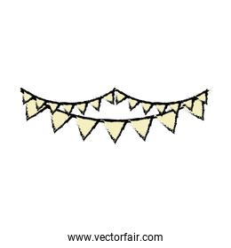 garlands party isolated icon