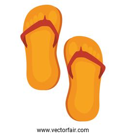 flip flops isolated icon