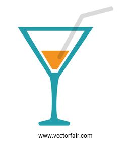 cocktail cup isolated icon