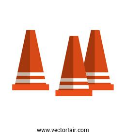 cone construction isolated icon