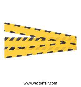 construction tape isolated icon