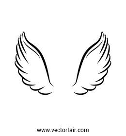 angel wings line style icon
