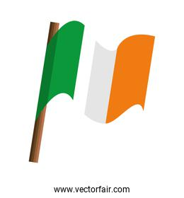 ireland country flag isolated icon