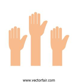 hands human up icon