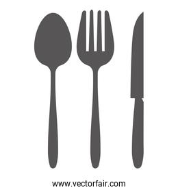 cutlery set isolated icon