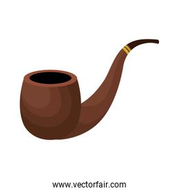 wooden pipe isolated icon