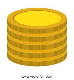 coins treasure isolated icon