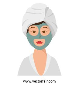 woman in spa character