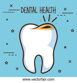 tooth with cavities dental care icon