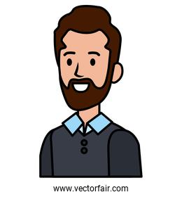 businessman with beard avatar character icon
