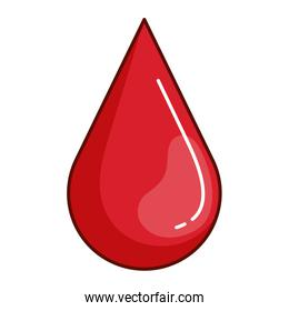 drop blood red icon