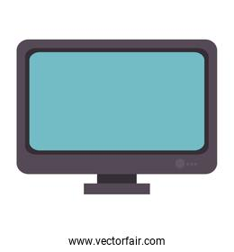 computer desktop with template icon