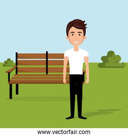 young man in the park character scene