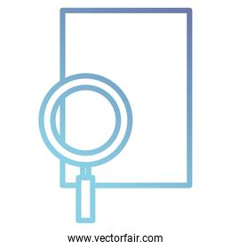 magnifying glass with paper