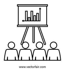 paperboard training with statistics and people