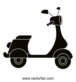 scooter motorcycle vehicle icon